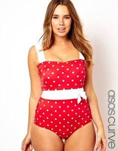 Red - Plus Size Fashion for Women - Love how this is called plus size i would call this an average size! Nice bathing suit though - Trendy Plus Size Fashion for Women: Swimwear Cute Plus Size Swimsuits, Plus Size Swimwear, Women's Swimwear, Trendy Swimwear, Trendy Plus Size Fashion, Cute Fashion, Ladies Fashion, Plus Size Kleidung, Lingerie