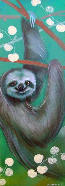 Sloth - Los perezosos son tan lentos que pueden estar en movimiento y las algas crecer en ellos. La velocidad máxima del perezoso es de 0.04 km por hora y duerme 20 horas al día. Ha hecho de la lentitud una forma de vida y de la inmovilidad la mayor de sus defensas. El perezoso pasa la mayor parte del día dormitando entre las ramas de los árboles, casi invisible para cualquier observador aunque le tenga delante