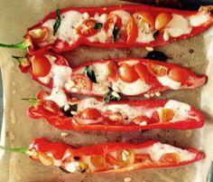 Sweet pepper mozarella basil 'Sandra Bekkari'
