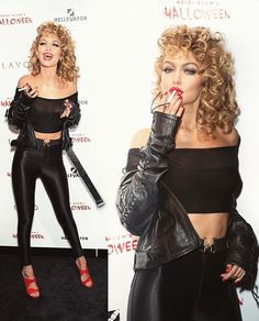 Gigi Hadid as Sandy from Greece | Fashion Halloween Outfit Ideas