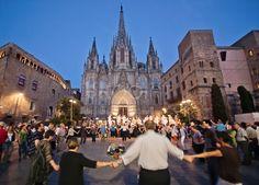 """Sardanas""- traditional national dance of Catalunya"