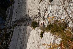 L'impressionnant chemin de la #mature dans les #Pyrénées