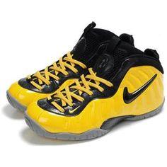 Nike Air Foamposite Yellow/Black/Gray Really Cheap Foamposites Fake Shoes, Cheap Shoes, Me Too Shoes, Yellow Sneakers, Sneakers Nike, Lebron 9, Air Foamposite Pro, Nike Kyrie, Jordan Shoes