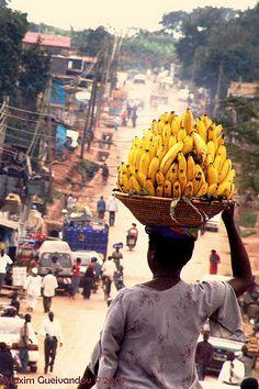 On the road between Kampala and Entebbe, Uganda.                                  take me back to where i belong.