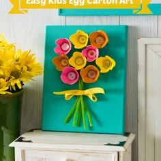 Kids will love this egg carton art