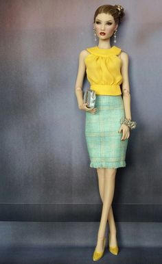 Prego: Not a bride - a wedding guest determined not to be overshadowed>> Barbie Dolls Diy, Barbie Fashionista Dolls, Doll Clothes Barbie, Barbie Dress, Doll Dress Patterns, Barbie Patterns, Diy Clothes And Shoes, Fashion Dolls, Fashion Outfits