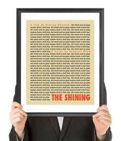 THE SHINING Movie Poster Fine Art Print beige by FinlayMcNevin, $16.00