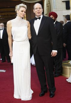 Princess Charlene: Akris gown