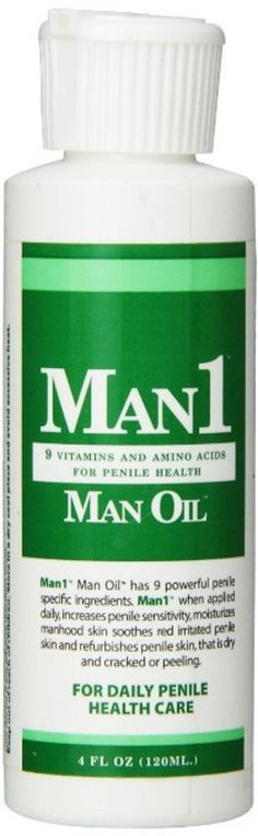 """""""Man1 Man Oil"""" 4 oz Natural Penile Health Cream. 3 month Supply. Treat Dry Red"""