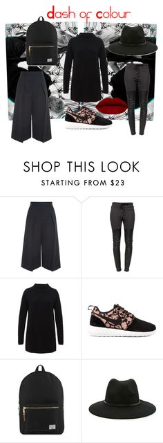 """""""Dash of Colour"""" by keob on Polyvore featuring Erdem, Ragdoll, Hallhuber, NIKE, Herschel Supply Co., Forever 21, women's clothing, women, female and woman"""