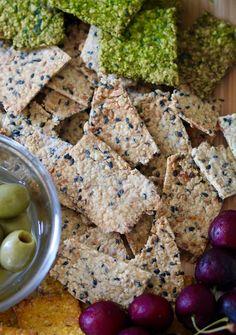 Oat Crackers Vegan Healthy
