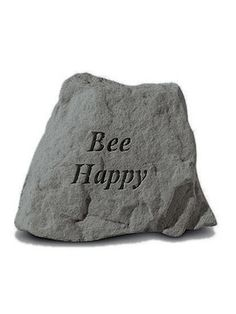Indoor/Outdoor Garden Gift Accessory Wall Plaque/Stone: Kayberry: Bee Happy