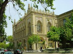 """* Baku *  Capital do Azerbaijão. """"Academia de Ciências""""."""