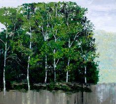 Artist - Lim Khim Katy Title - After Rain Media - Oil on Canvas Size - 110cm x 120cm Status - Private Collection San Francisco