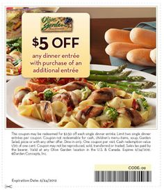 Free Printable Coupons Olive Garden