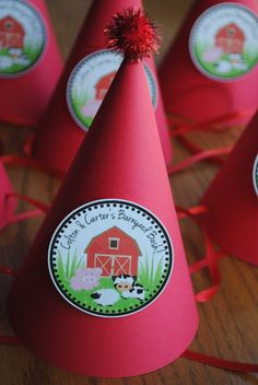 NEW  Barnyard bash Party Hats set of 10 by mlf465 on Etsy, $20.00