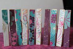 Decorative Clothespins.