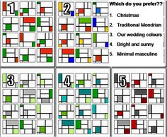 Mondrian quilt design and colours by craftywaffles, via Flickr