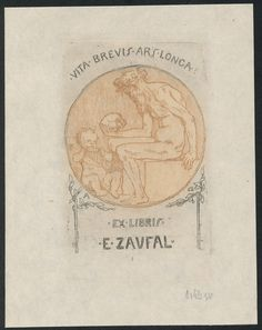 Exlibris bookplate sécessionnistes wiener werkstätte artiste Emil orlik 1898 in Art, Prints, Antique (Pre-1900), Other Antique Prints | eBay