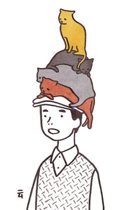 Algunos de los dibujos del ilustrador japonésNimura Daisuke son adorablemente picantes (¿?). Curiosa combinación. ¿Lo mejor? Los gifs!             — NIMURA DAISUKE   vía iGnant