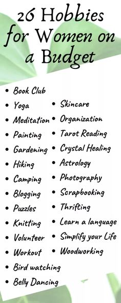 Check out these diverse hobbies for women who are budget savvy. It& never t… Check out these diverse hobbies for women who are budget savvy. It& never too late to learn something new or discover a new passion. Hobbies For Adults, Hobbies To Try, Hobbies For Women, Hobbies That Make Money, Hobbies And Interests, Great Hobbies, Hobbies List Of, Easy Hobbies, Planning Budget