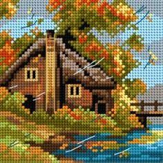 Schemat Nad jeziorem-jesień