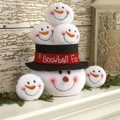DEI Snowman Indoor Snowball Fight Kit - Seasonal - Christmas - Indoor Decor