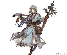 View an image titled 'Will SR Art' in our Granblue Fantasy art gallery featuring official character designs, concept art, and promo pictures. Female Character Design, Character Design References, Character Design Inspiration, Character Concept, Character Art, Concept Art, Dnd Characters, Fantasy Characters, Female Characters