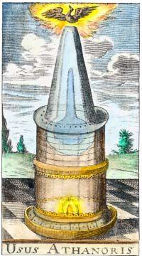 Alchemy:  Engraving From Taeda Trifida Chimica 1674. An #Alchemy artwork.