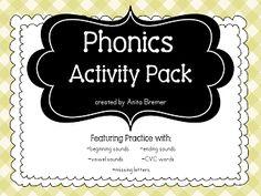 phonics activities {by Anita Bremer}