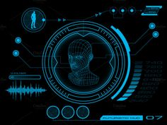 Futuristic HUD, Touch GUI Elements by BeOGraphic on @creativemarket