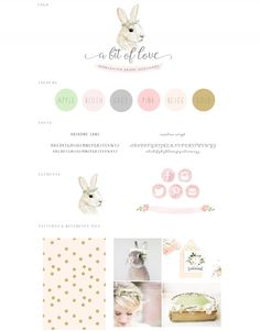 watercolor, bunny, rabbit, illustration, watercolour, pastel, logo, logo design, branding, peach, gold, animal, painting