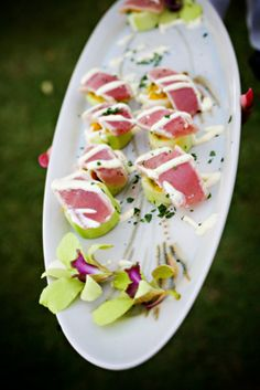 Seared ahi passed appetizers