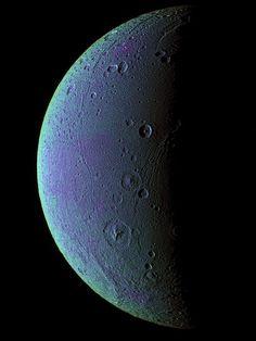 Saturn's moon Dione.