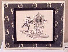 Nightmare Before Christmas Jack Skellington Spider Halloween Card Skulls