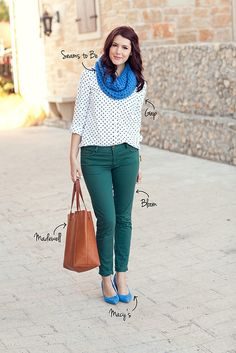 The color combination in this outfit is so unexpected and fun!