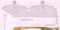 Cantinho das Artes da Cássia: Bicos de crochê com gráfico
