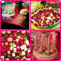 Green and Pink party food