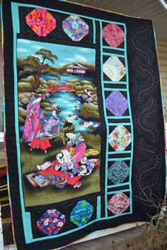 Oriental Geisha Girl Asian Decor Japanese by TrueloveQuiltsForYou, $320.00                                                                                                                                                                                 More