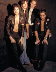The Misfits, 1978. L-R: vocalist Glenn Danzig, drummer (and possible Danzig tickler) Jim Catania, guitarist Franché Coma, bassist Jerry Only. Photographer believed to be Ken Caiafa.