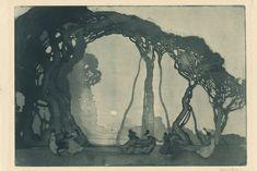 A major retrospective of Australian Art Nouveau artist Sydney Long is on show at the National Gallery in Canberra. Australian Painters, Australian Artists, Gravure Illustration, Illustration Art, Art Nouveau, Albrecht Dürer, Etching Prints, Art Graphique, Klimt