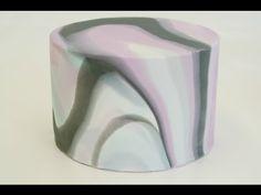 Marbled cake / Marmorierter Fondant - Marmor Effekt an Fondant Torte - YouTube