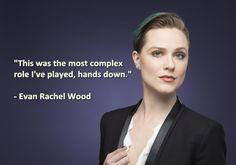 Evan Rachel Wood talks of working on Westworld.