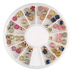 QINF Colorful Pearl Metal Lipping Nail Art Decorations -- Want additional info? Click on the image.