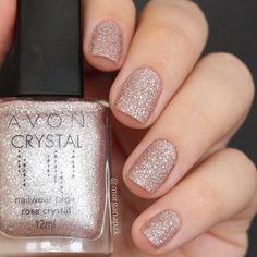 Esmalte Texturizado Rosa Crystal da Avon | Unhas Rosa | Sand Nail Polish | Glitter | Fancy | Wedding |  by @morganapzk