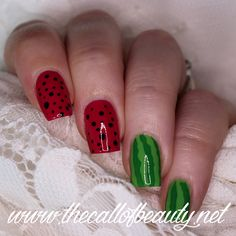 The Call of Beauty: Nail Crazies Unite: Fruit - Watermelon