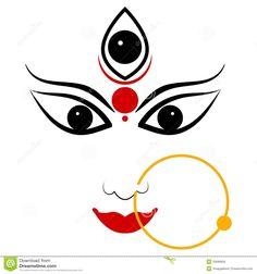 goddess-durga-easy-to-edit-vector-illustration-33688956.jpg (1300×1390)