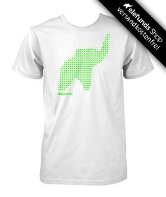 #elefunds - #Crowded - Männer T-Shirt - weiß/neon-grün - 21,40€ - 100% organic cotton and fairtrade - Versand kostenlos