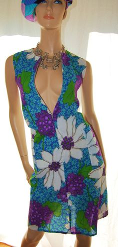 Vintage 70s BoHo Floral Shift DreSS SexY by VintageFlirtyGirl, $25.00