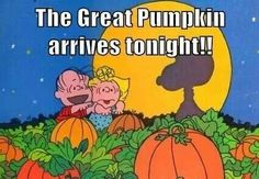 It's the great pumpkin, Charlie Brown! :)